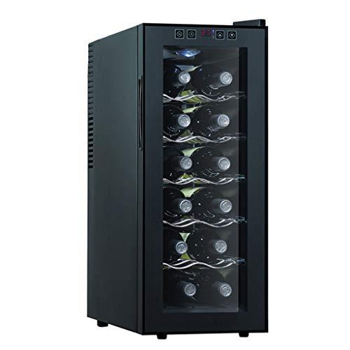 JCOCO -12 bouteilles de vin cooler - cave à vin intelligente pour micro-ordinateur - thermostat tactile à LED - cave à vin rouge et blanc