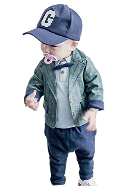 AMIGOYO 秋 新登場 子供スーツ 男の子 ジャケット+長袖シャツ+ズボン 3点セット ベービー ボーイズ