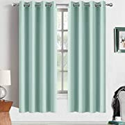 Yakamok Room Darkening Panels Blackout Curtains Grommet Top Thermal Insulated Drapes, Lime Color, W52 x L63,2 Panels