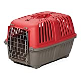 Pet Carrier: Hard-Sided Dog Carrier, Cat Carrier, Small Animal Carrier in Red| Inside Dims...