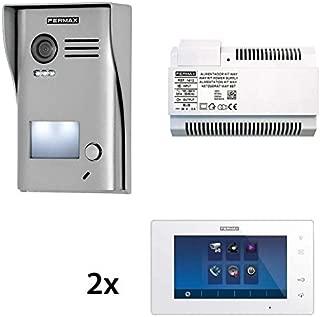 Fermax Kit de videoportero Way Slim de 1 línea con 2 monitores de 7