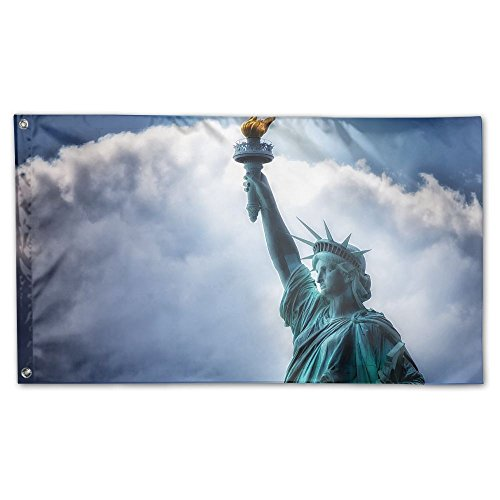Statue Of Liberty Garden Lawn Flags Indoor Outdoor Decoration Home Banner Polyester Sports Fan Flags 3 X 5 Foot