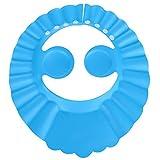 BESTOMZ Verstellbare Kopfhaube für Shampoo, Dusche, Bad, Haarschutz, mit Ohrenschutzpolstern, Blau