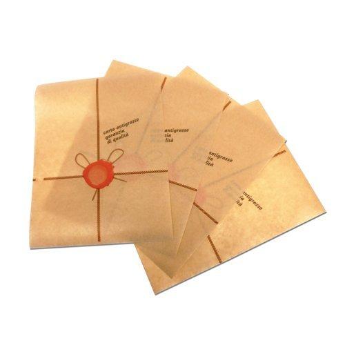 PZ 1000 FOGLIETTI IN CARTA ANTIGRASSO CM 18 X 25 MARRONE BROWN PAPER PER PIADINA PANINI HAMBURGER PIZZA E TOAST FOGLIO POLITENATO