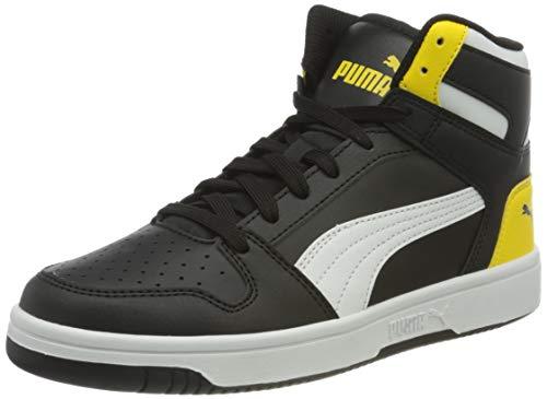 PUMA Rebound Layup SL JR Sneaker, Peacoat Gray Violet High Risk Rot Weiß, 39 EU
