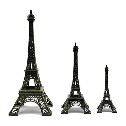HuntGold - Figura decorativa de la Torre Eiffel, 10 cm