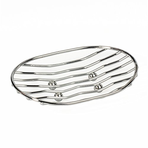 ArtMoon Teslin Porte-Savon Ovale Acier Chrome 13X9.6X4 cm