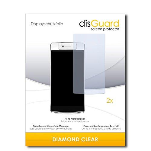 disGuard 2 x Bildschirmschutzfolie Oppo N3 Schutzfolie Folie DiamondClear unsichtbar