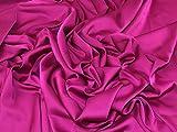 Minerva Crafts Armania Stretch-Satin-Stoff, Fuchsia Pink