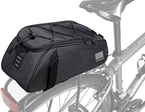 Roswheel Essentials Series 141465 Convertible Bike Trunk Bag Bicycle Rear Rack Pack Cycling Accessories Pannier, 7L Capacity
