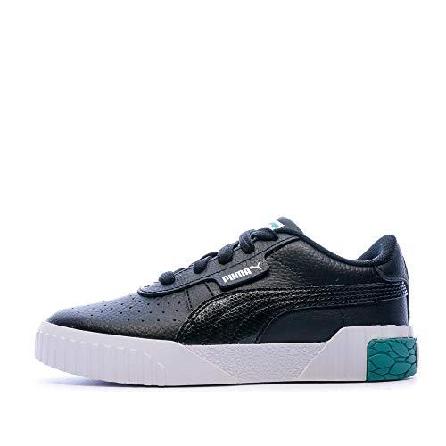 PUMA Cali PS, Sneaker Ragazza, Nero Black-Viridian Green, 29 EU