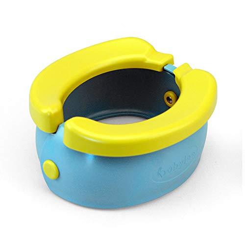 LXQ Banana - Asiento portátil de Entrenamiento para IR al baño, Asiento Plegable para Entrenador de niños para bebés y niñas, Asiento de Inodoro fácil de Usar Asiento para niños (Azul)