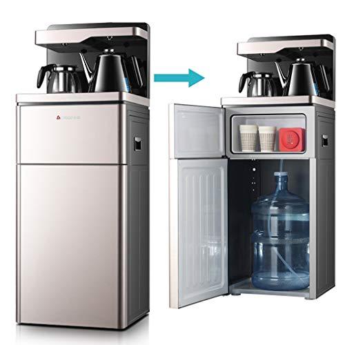 Unbekannt Bottom Loading Water Cooler Dispenser, Heißdampf- und eiskaltes Wasser, freistehender Wasserspender für Haushalt und Gewerbe, Staubschutztür, Champagnergold