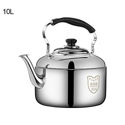 Stove Top Whistling Tea Kettle grande capacità in acciaio inox teiera composito processo bottom adatto per vari Stufe Kitchen Aid teiera Tea Pots,10L