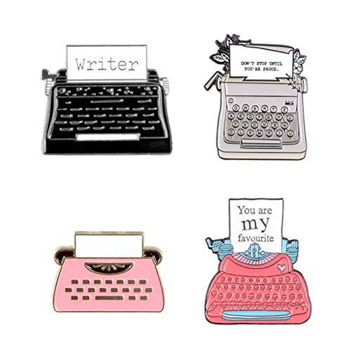 Broche para niñas, accesorios de joyeríaUnisex Telegraph Fax Letras Esmalte Broche Pin...