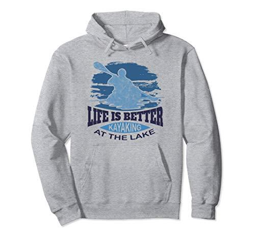 Kajakbekleidung - Leben ist besser Kajakfahren am See Pullover Hoodie