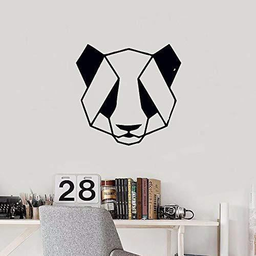 WERWN Calcomanías de Pared geométricas Panda Animal Origami Puertas y Ventanas Pegatinas de Vinilo Dormitorio Sala de Estar jardín de Infantes Oficina decoración de Interiores Mural