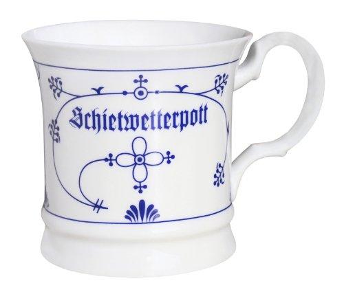 CUP+MUG Teepott Indisch Blau Porzellan Schietwetter