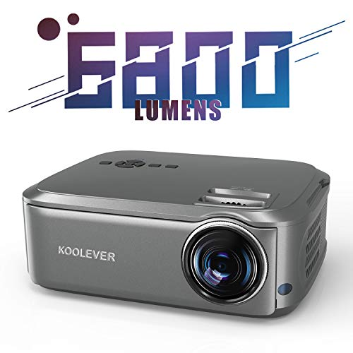 Beamer 6800 Lumen, Native 1080p Beamer Full HD, Beamer Heimkino LED 78000 Stunden Heimkino und Fußball Spiel Spaß Kompatibel mit HDMI VGA USB AV