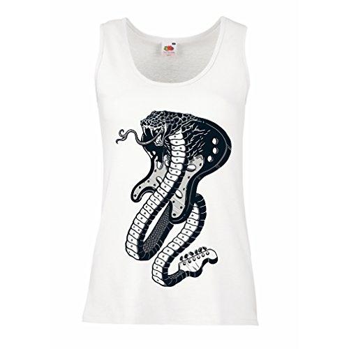 lepni.me Camisetas sin Mangas para Mujer Guitarra eléctrica Serpiente Cobra, Amante del...