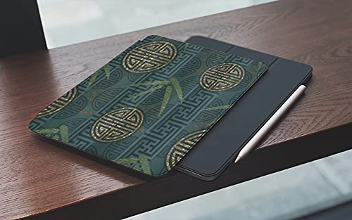 Case for iPad (9.7-Inch, 2018/2017 Model, 6th/5th Generation) Colorful Marble Abstract Swirls Green Blue Ripples Ocean Fluid Liquid Granite Modern with Shockproof TPU Back Cover, Auto Wake/Sleep