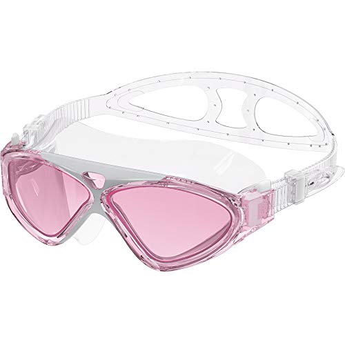 OutdoorMaster Swim Mask - Wide View Swimming Mask & Goggles Anti-fog Waterproof Pink