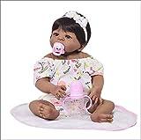 HKMA Reborn Baby Doll Black Girl se ve Real Silicona Cuerpo Realidad Reborn Toyler Grey Eyes Recién Nacido Niño Niño Regalo Juguetes