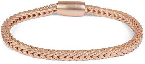 styleBREAKER Zopfketten Armband mit Magnetverschluss, Kette, Schmuck, Damen 05040132, Farbe:Rosegold