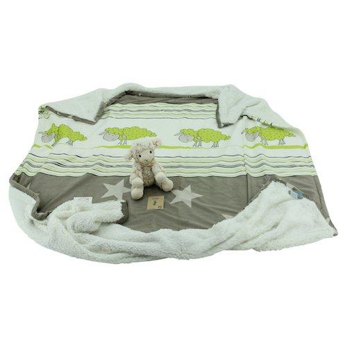 Sweety Toys 10523 - Manta infantil (25 cm), diseño de oveja y cordero