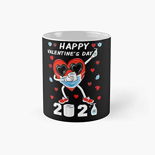 Dabbing Heart In A Mask Happy Valentines Day 2021 Classic Mug - 11 Oz.