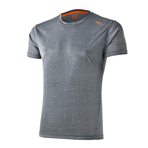 42K RUNNING - Camiseta técnica 42k Aquarius Manga Corta Grey - Crystal