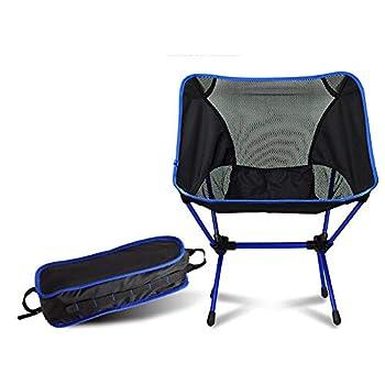 Sayiant Chaise de camping, chaise de pêche, chaise de plage, chaise d'extérieur portable avec sac de transport pour activités de plein air, camping, barbecue, plage, randonnée