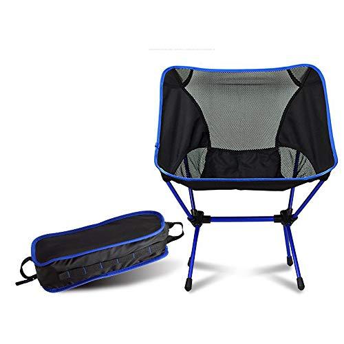 Sayiant Silla de camping plegable, silla de pesca, silla de playa, silla portátil al aire libre con bolsa de transporte para actividades al aire libre, camping, barbacoa, playa, mochila