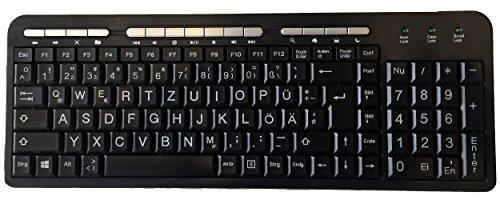 PK703 Großbuchstaben Tastatur XXL Buchstaben USB Sehbehindert Rentner