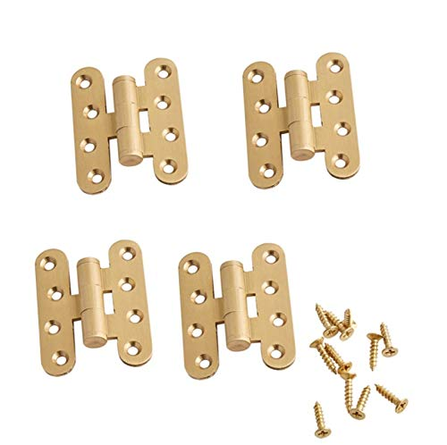 Bisagra de puerta antigua, 4 piezas de conectores de bisagras de puerta con rodamiento de bolas, máquina de coser latón bisagras , forma de mariposa, para muebles para el hogar(60 mm)