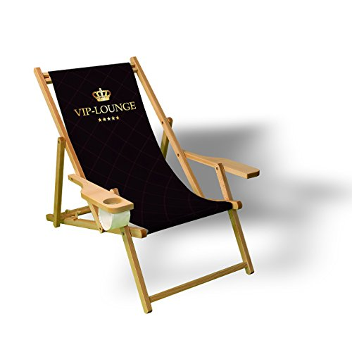 Printalio - VIP - Liegestuhl Bedruckt Balkon Garten Sonnenliege Relax Holz Terrasse