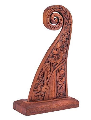 Windalf - Figura Decorativa de Barco Vikingo (42 cm, Hecha a Mano, Madera)