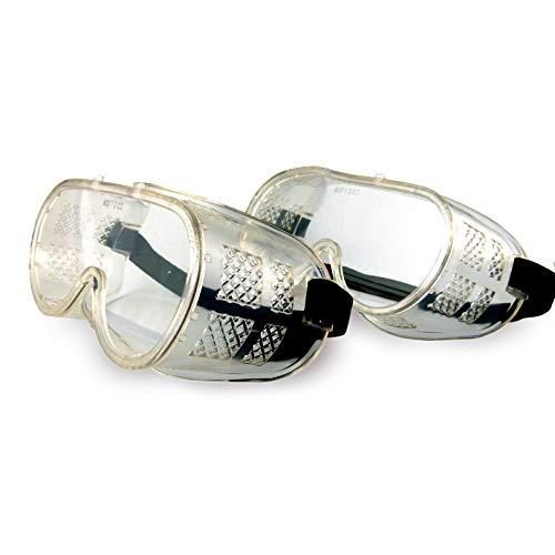 Zwei Arbeitsschutzbrillen Vollschutzbrille DIN EN 166 Schutzbrille Schleifbrille Korbbrille Profi Vollsichtbrille