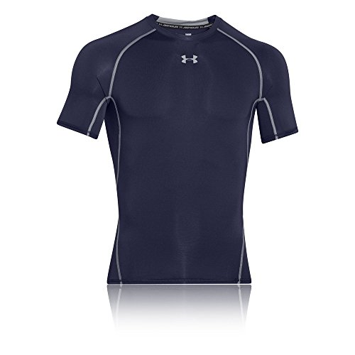 Under Armour Herren UA HeatGear Short SleeveFunktionsshirt, Navyblau (Midnight Navy/Steel (410)), Medium
