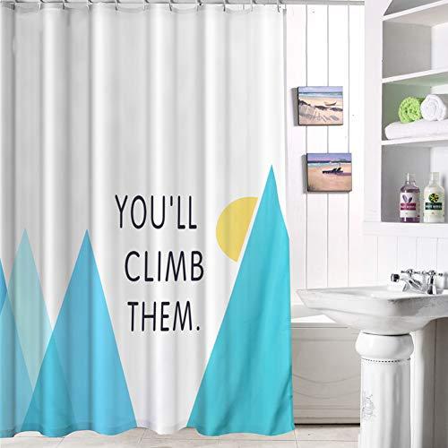 Cleave Wave Douchegordijn voor de badkamer, kleurrijke douchegordijnen, met haak tegen schimmel, antibacterieel, voor badkamer, douche, badkuip, 80 x 180 cm