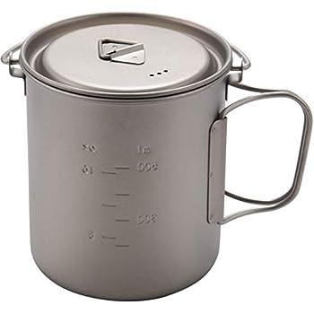 Quata Auuen - Tasse TTpfe - Vaisselle de camping - Tasse de pique-nique à eau - Tasse à café avec couvercle - 750 ml