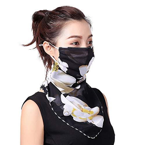 INSUPER Gesicht Maske Hals Gaiter Schild Seide Schal Balaclava Bandana Sonnenschutz für Frauen Mädchen …