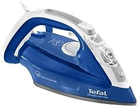 Tefal steam iron, ultragliss Anti Calc , anti scale, 2500 Watts, anti drip function, blue color, FV4964M0