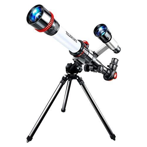 Estudiantes y niños del Reino Unido Telescopios pequeños para astronomía Regalos para principiantes Telescopio de refracción de alta potencia con trípode Telescopio monocular portátil de pie para obs