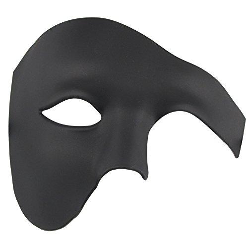 Coddsmz Máscara de Media Cara Máscara de Disfraces de Halloween Fantasma de la máscara de ópera para Hombres y Mujeres