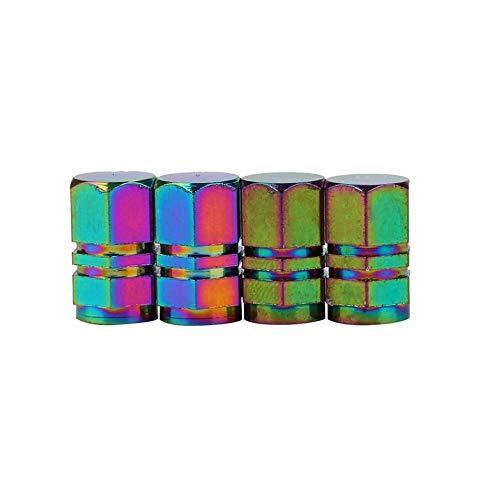 tapas de válvulas Válvula de la rueda del camión puerto de aire de aluminio 4PCS válvula del neumático del coche de mayúsculas bala granada Para neumáticos (Color : H)