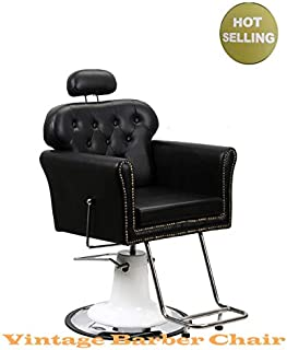 Vintage Old Barber Chair for Salon and Barber Shop for All Purpose Hair Cutting Styling Shampoo with Hydraulic pump