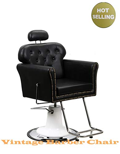 Vintage All Purpose Salon Chair for Salon and Barber Shop Hair Cutting Styling Shampoo with...