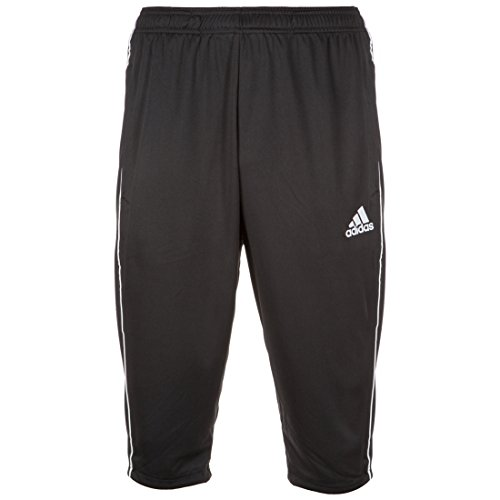 adidas Herren Core 18 3/4 Trainingshose, Black/White, L