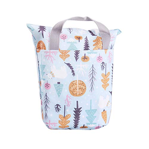 HLAA Bolsa de pañales de bebé impermeable bolsa de enfermería reutilizable multifuncional de gran capacidad mamá bolsa de cochecito de bebé Accesorios (01)